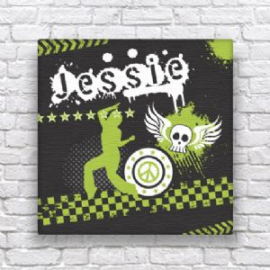 Wallspice Personalised Dancer Canvas :: Their Name on Our Funky Canvas Art